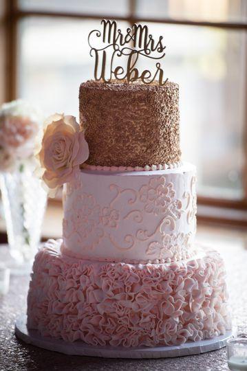 Neapolitan wedding cake