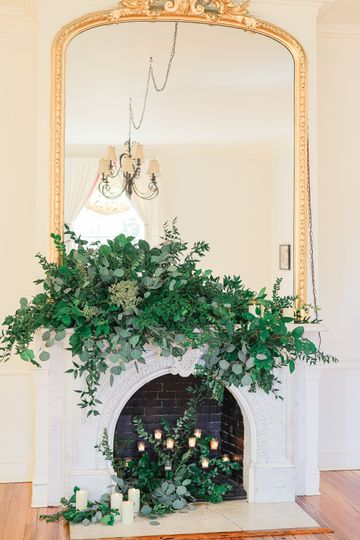 Mantle in parlor