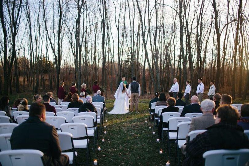 November outdoor wedding