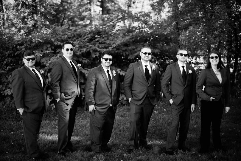 Groomsmen with Kalamazoo Vows