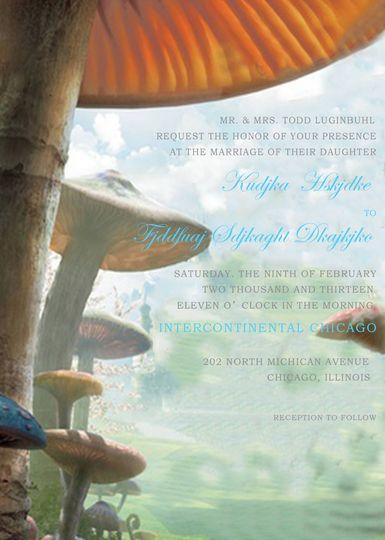 ALICE IN WONDERLAND WEDDING INVITATIONS HPI282:...