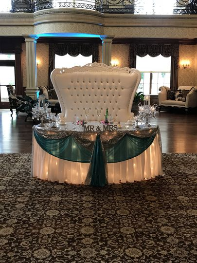 Bride & groom reception
