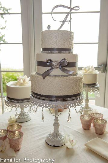 Three-layered cake