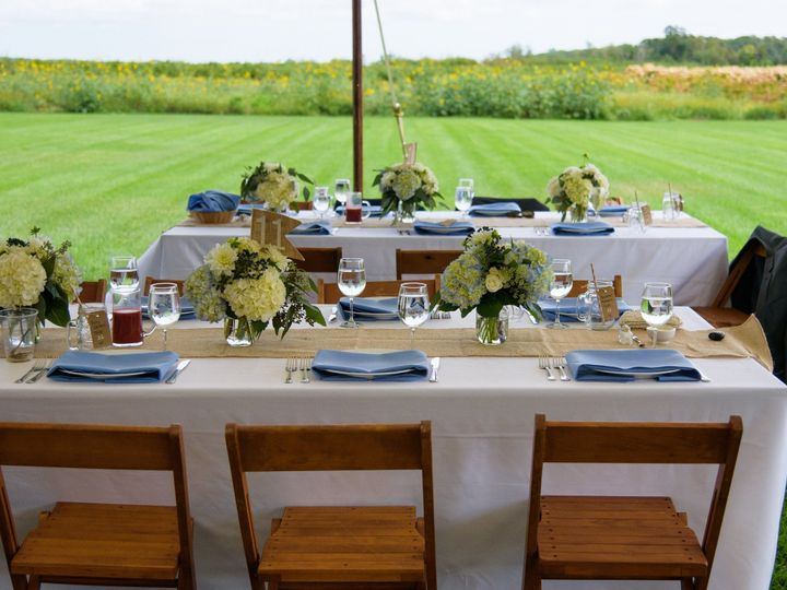 Tmx 1496947432260 Stillwater Table Set Up With Pole Center Moriches wedding catering
