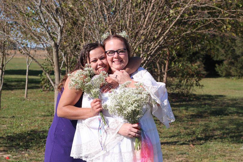 Joy on her wedding day