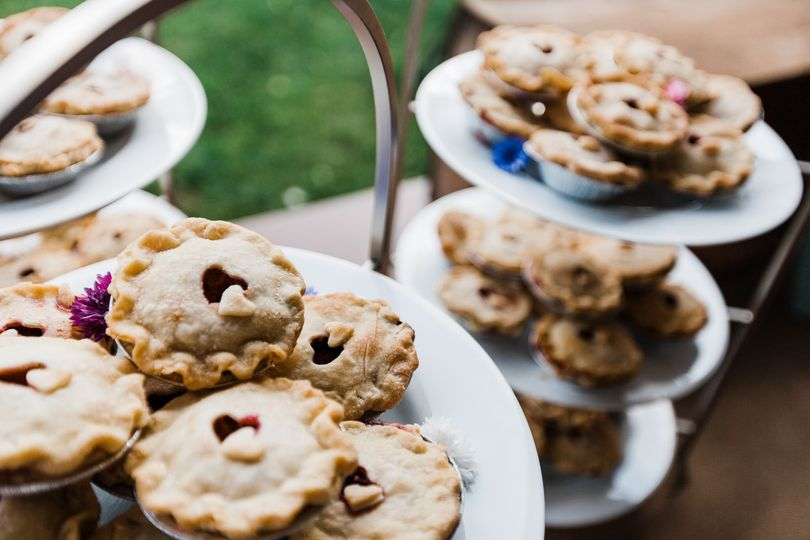 Sweet wedding pies