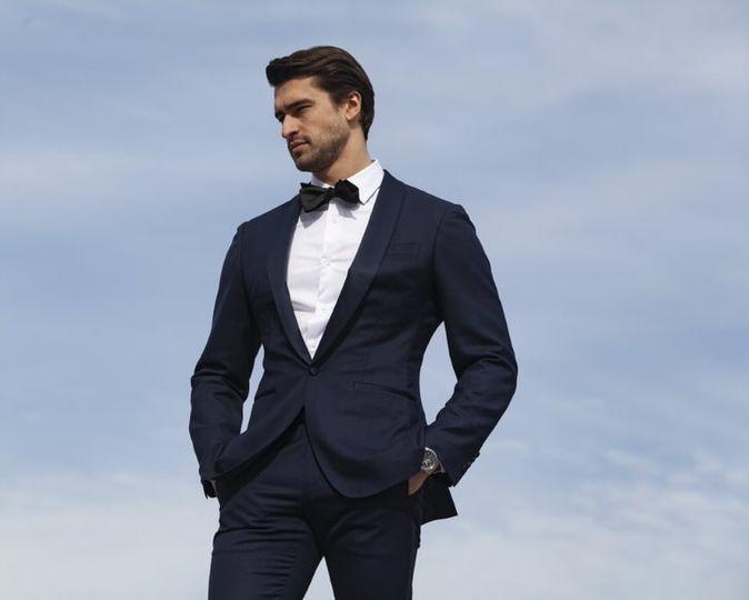 Enzo Custom Blue Tuxedo