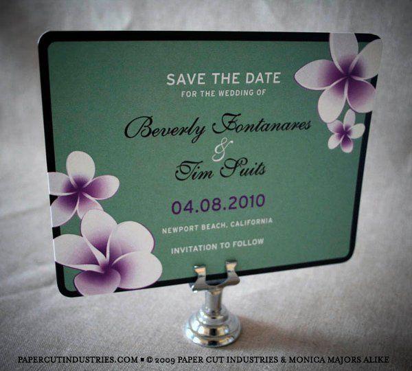 Beverly & Tim: Plumeria Save the Dates