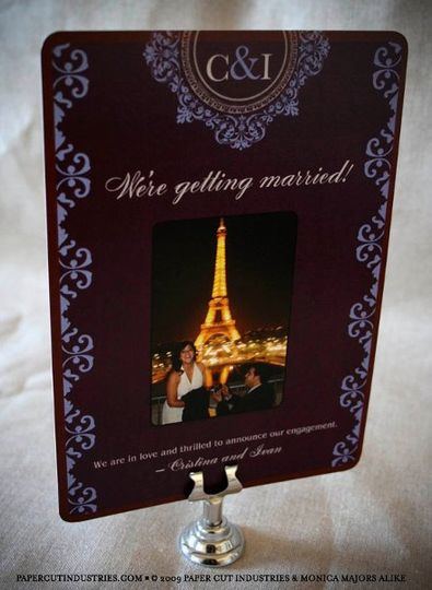 Cristina & Ivan: French Ornate Engagement Announcements