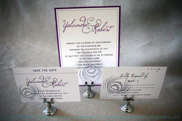 Peacock Feather Wedding Invitation Set
