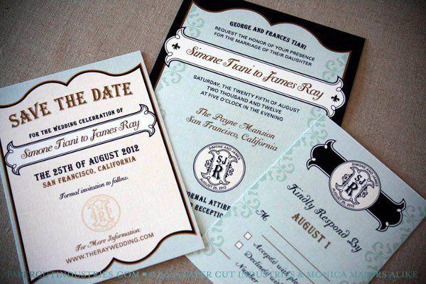 French Artisan Wedding Invitation Set