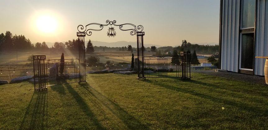 Wedding Arch on Hillside