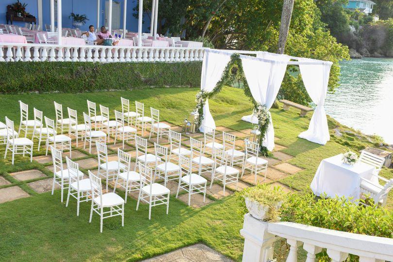 Waterfront wedding site