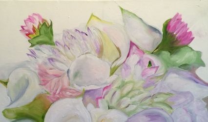 Custom Bridal Bouquet Paintings by Francine