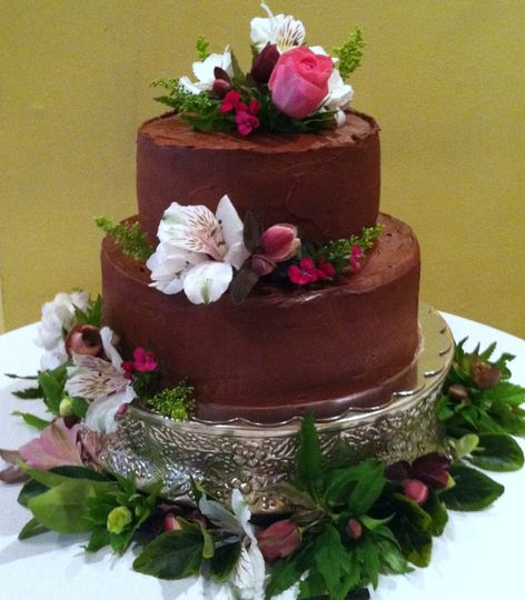 tier milk chocolate layer cake