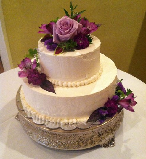 wedding cake with italian buttercream
