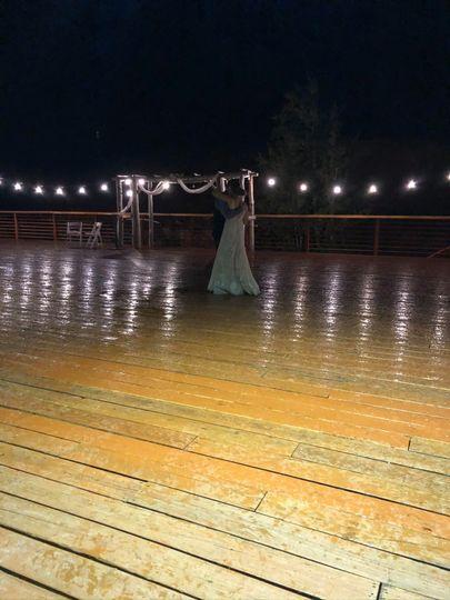 Dancing in the rain at Powderh