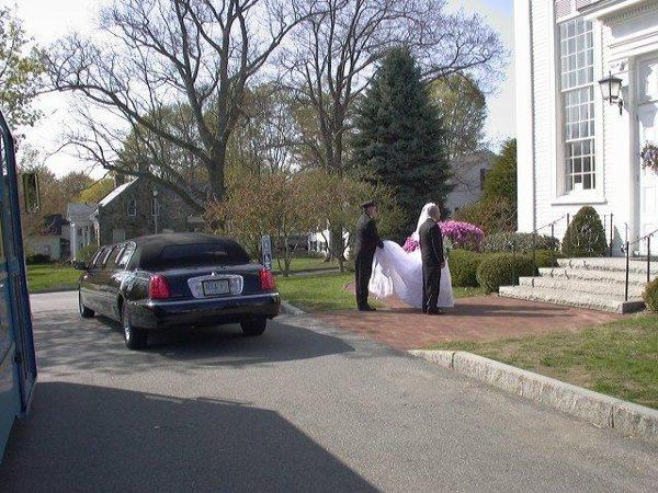 Tmx 1299268423078 Brideinfrontofchurch2 Hampton wedding transportation