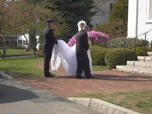 Tmx 1299268424531 Brideinfrontofchurch Hampton wedding transportation