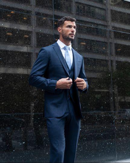 Enzo Custom Blue Suit