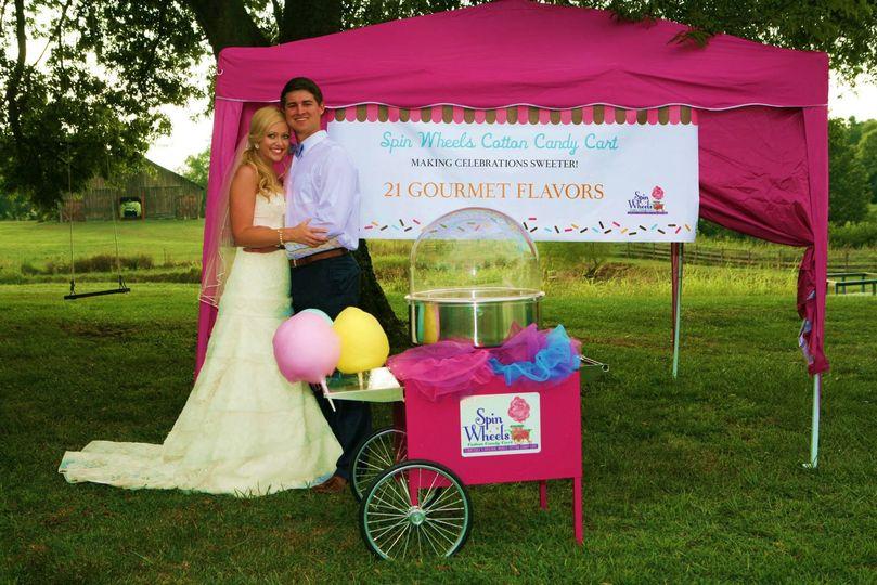 35a54df588448a38 bride and groom cart