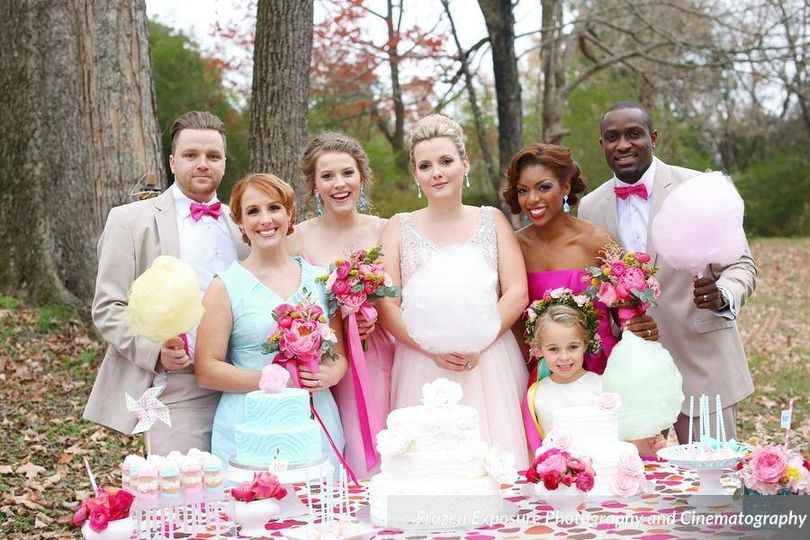 wedding party cotton candy