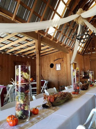 Wedding reception in the Barn