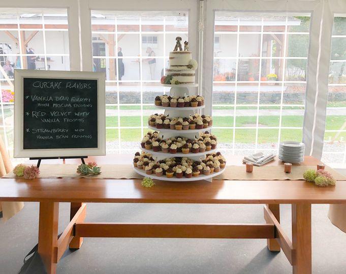 Nice cupcake display