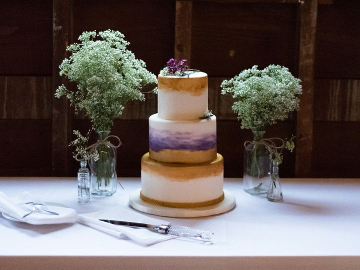 Tmx Gold Watercolor Purple Wedding 51 938345 157923150832777 Bennington, VT wedding cake
