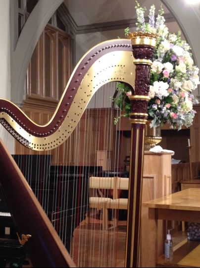 The harp is beautiful to see!