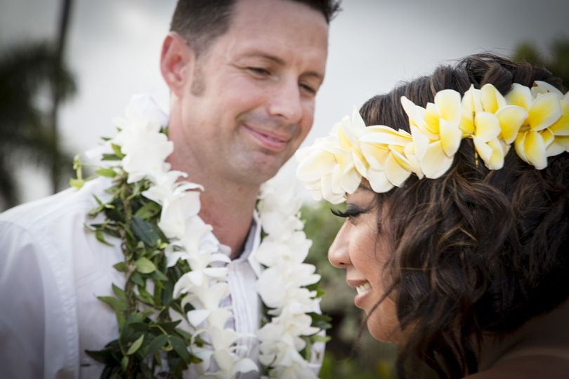 Plumeria and Maile Leis are a beautiful Hawaiian touch