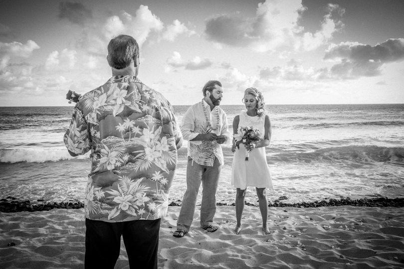 Hawaiian wedding serenade