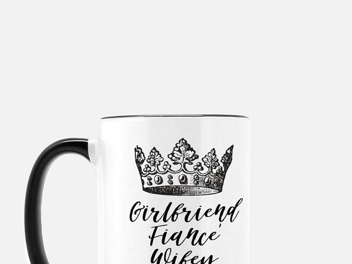 Tmx Mug Deluxe 15oz Black White Crown Black Letters Example 3 51 1969345 159002948847596 Plano, TX wedding favor