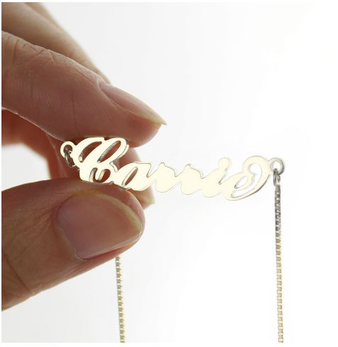Tmx Personalized Carrie Name Necklace Silver Box Chain Ca17 2 51 1969345 159605606718865 Plano, TX wedding favor