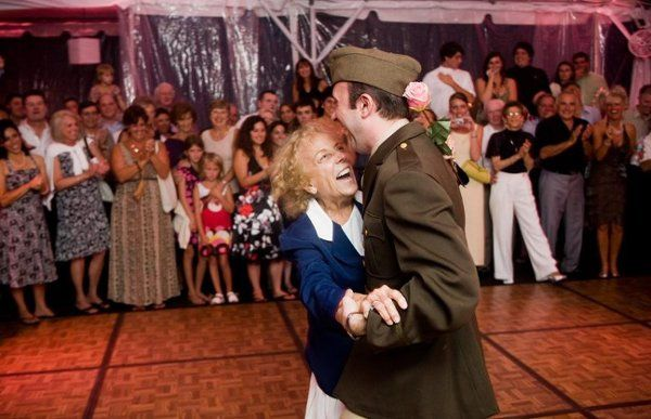 A special dance for the grandmother.