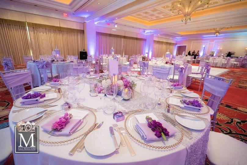 Wedding reception setting