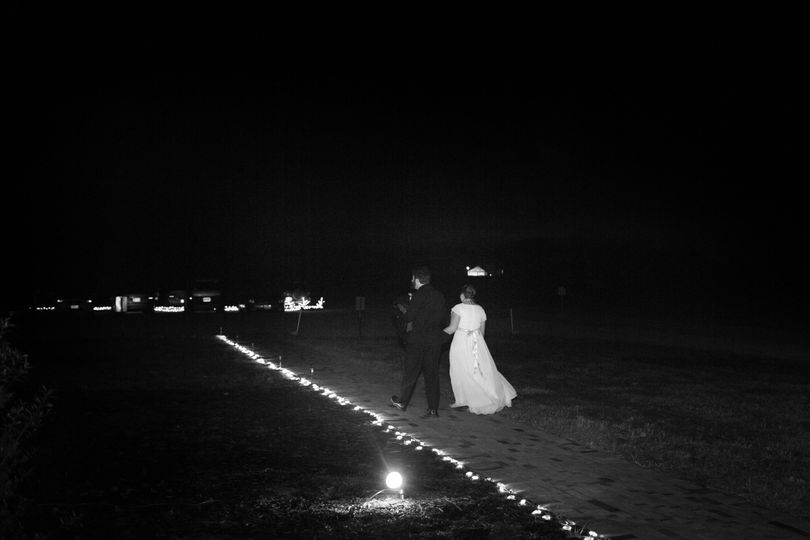 The couple walking
