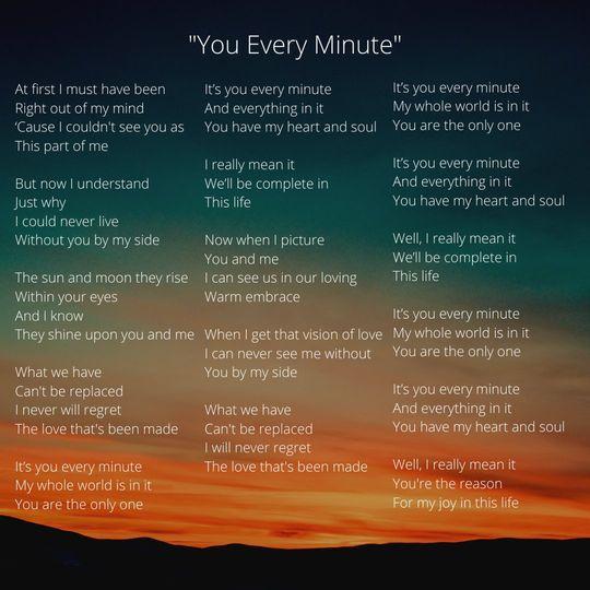 Custom Lyrics for You