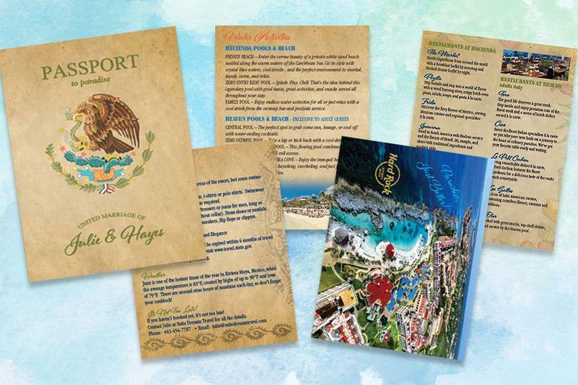Destination wedding passport invite