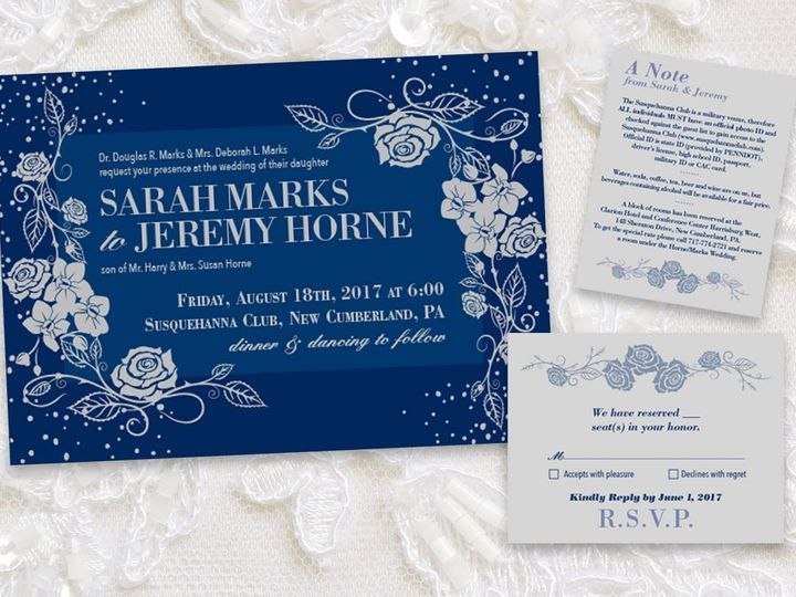Tmx 1524759161 C63432e8f88bcd08 1524759159 06383e8964ba86c3 1524759158366 2 SarahInvite New Cumberland, PA wedding invitation