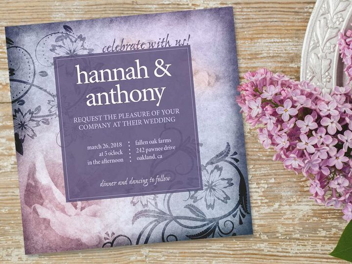 Tmx 1528665315 F51e40a069d0bd4c 1528665314 61c6fbce4e2ea7d7 1528665313419 1 PurpleInvite New Cumberland, PA wedding invitation