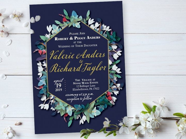 Tmx Diamond 51 1004445 New Cumberland, PA wedding invitation