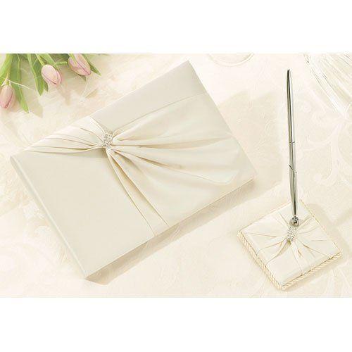 Tmx 1302468351850 Ivoryguestbookpenset Milford wedding favor