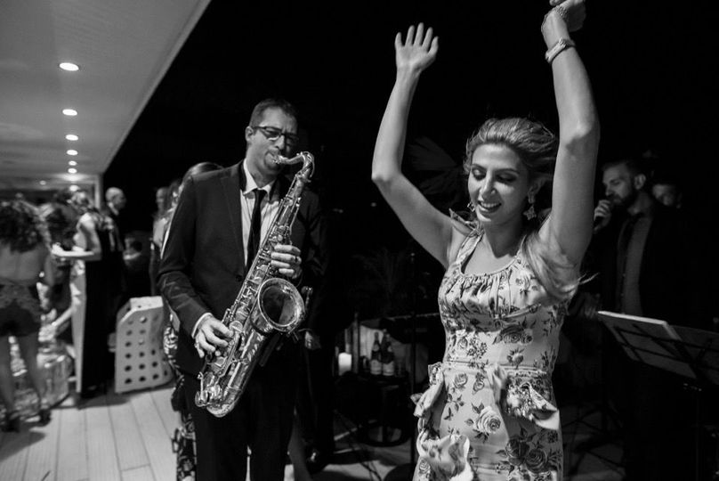 Wedding swing band performing at Hotel Principe Forte dei Marmi.wedding by SposiamoVi