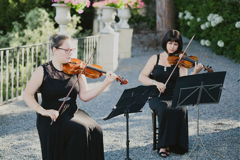 Classical string quartet performing at La Cervara.Wedding by SposiamoViPhoto by Pure White...