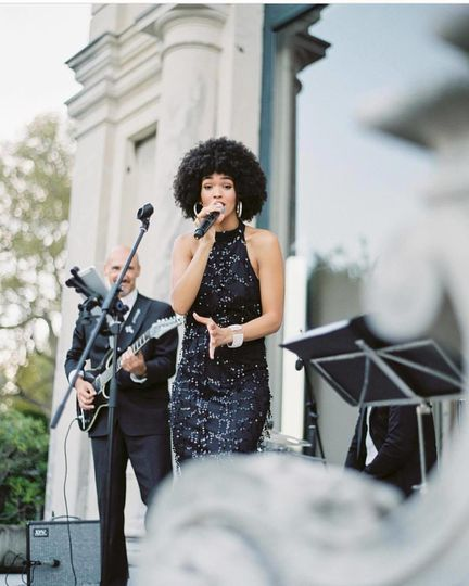 Pop, Dance, R&B Party Band performing at Villa Erba, Lake Como, ItalyWedding by Miracle...