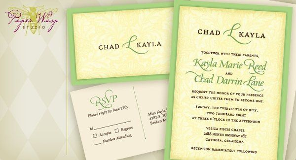 Tmx 1216827555018 Lane Bixby wedding invitation