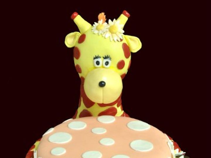 Tmx 1280777302409 Giraffe Woodside wedding cake