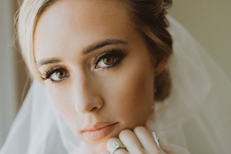 Beautiful bride closeup