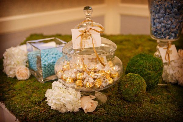 Candy bar tablescape
